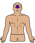 third eye chakra position on the body